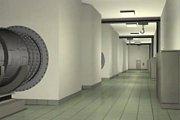 Vizualizace tunelu pod červenohorským sedlem z roku 1999