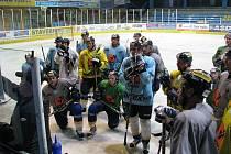 První trénink Draků na ledě v prvoligové sezoně