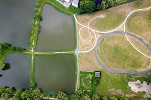 Park Knížecí sady po dokončení druhé etapy.