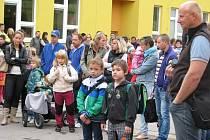První školní den na Sluneční v Šumperku.