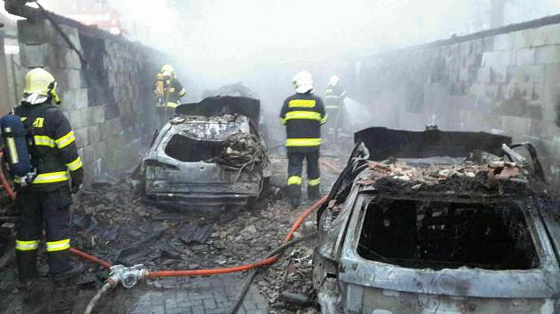 Požár v Kosově na Zábřežsku.
