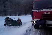 Nehoda u Potůčníku 13. ledna 2012