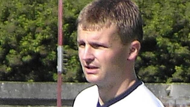 Kapitán šumperských fotbalistů Bohdan Hecl.
