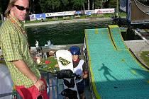 Mojmír Langer na můstku v Acrobat Parku Štíty