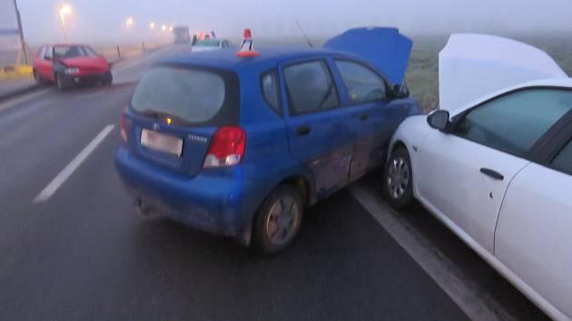 Hromadná nehoda mezi Rapotínem a Vikýřovicemi