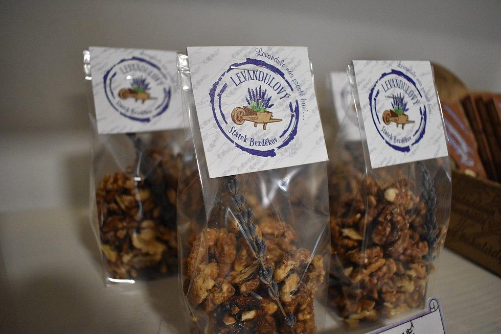 Produkty Levandulové farmy v Bezděkově.