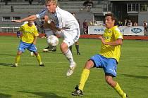 Dva roky starý snímek z pohárového utkání Vítkovic se Šumperkem (žluté dresy)