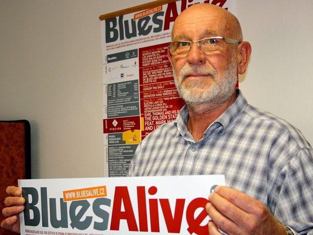 Vladimír Rybička, ředitel  mezinárodního festivalu Blues Alive