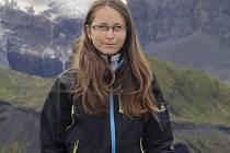 Alena Janků na Islandu, kde byla v srpnu 2015