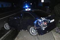 Nehoda v Temenické ulici v Šumperku.