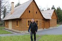 Nové stavby ve Zlatorudném skanzenu u Zlatých Hor