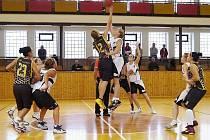 Snímek z víkendového utkání šumperských basketbalistek.