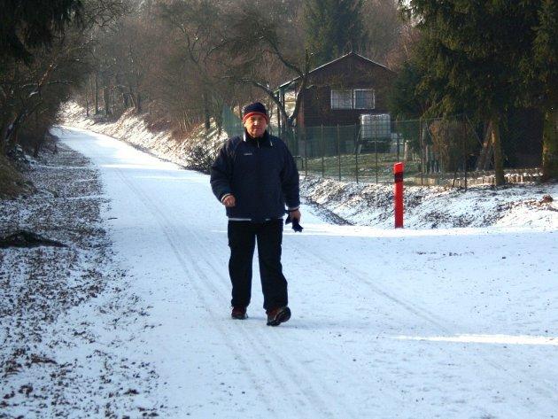 Cesta pro cyklisty mezi Šumperkem a Bludovem.