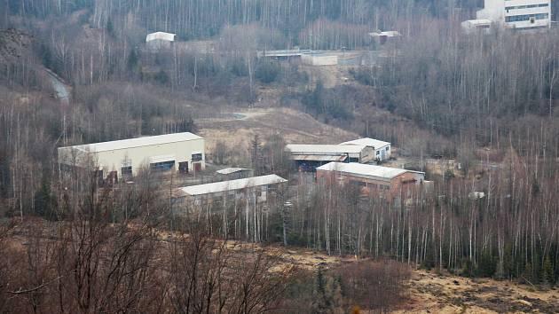 Areál bývalého zlatohorského závodu RD Jeseník - lokalita nový závod.