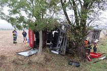Nehoda tahače s návěsem mezi Mohelnicí a Moravskou Třebovou