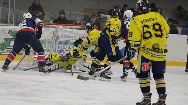 Šumperk na úvod play-off zničil Kopřivnici šesti góly.
