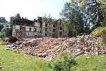 Demolice Sanatorky v Šumperku, stav k 19. červnu 2018.