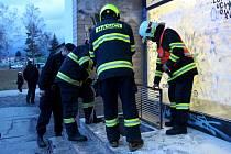 Během zápasu Draků s Porubou hořelo ve sklepních prostorách