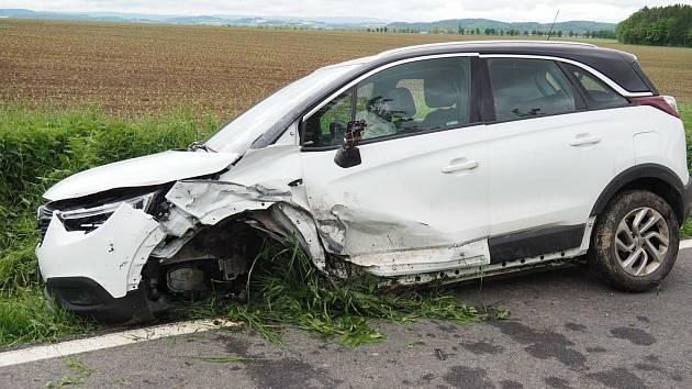 Srážka dvou aut u Mohelnice - 22. 5. 2021