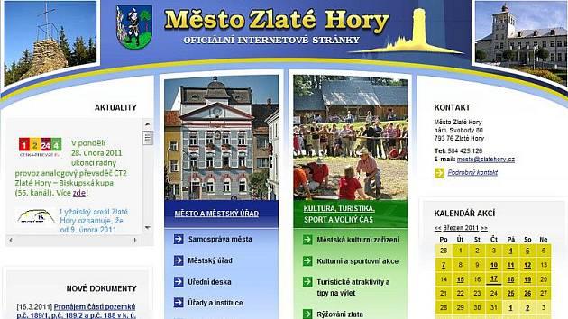 Web Města Zlaté Hory