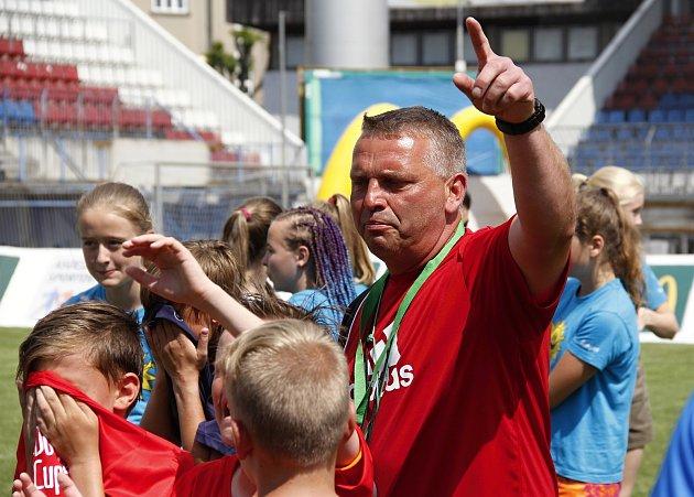 Trenér Šumperku Petr Strnad.