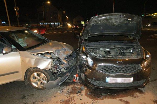 Nehoda na křižovatce vŠumperku