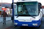Autobusové nádraží v Jeseníku. Ilustrační foto
