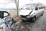 Následky dopravní nehody u Písařova