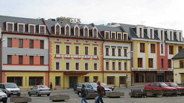 Nově zrekonstruovaný hotel Slovan v Jeseníku.
