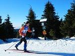 V areálu Kouty se konají Lyžařské soutěže lesníků.