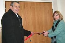Ředitel Soužití 2005 Jiří Rozsypal při otevírání centra