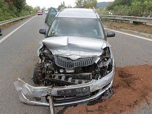 Nehoda u Mohelnice.