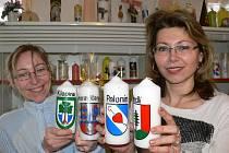 Alena Vitásková a Marie Procházková z chráněné dílny Charity Zábřeh v Paloníně nově zdobí také svíce se znaky obcí