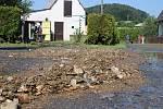 Následky přívalového deště v Brníčku na Zábřežsku.