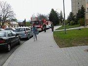 Zásah policie i hasičů v Zahradní ulici v Šumperku 6. 5. 2017