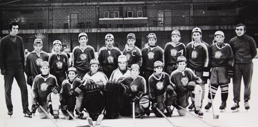 O štít únorového vítězství. První ročník turnaje mladších žáků v ledním hokeji 3.-5. března 1972, tým LP Šumperk