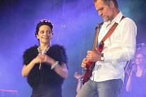 Lucie Bílá během koncertu v Šumperku