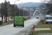 Náves v Moravičanech v březnu 2019
