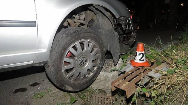 Havárie vozidla v Rapotíně ve středu 12. června.