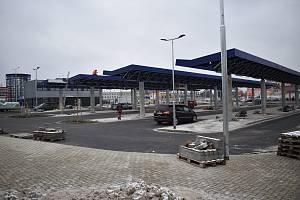Dopravní terminál v Šumperku v úterý 1. prosince 2020.
