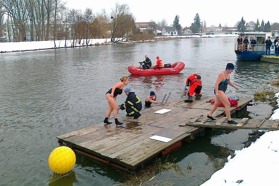 Zábřežští zimní plavci v akci.