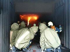 Loštičtí hasiči během jednoho ze zásahů