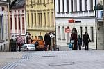 Ulice Šumperka ve středu 11. března ráno.