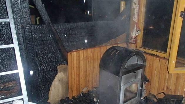 K požáru zahradní chatky v ulici Skalička v Zábřehu vyjížděli v úterý 17. února hasiči.