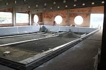 Rozestavěný krytý bazén v Zábřehu přijde město na 125 milionů korun. Vysaje šestinu rozpočtu na rok 2010