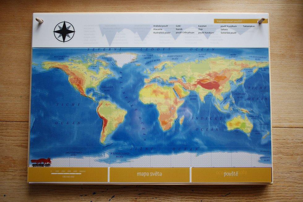 Velký Montessori atlas světa.