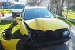 Nehoda seatu na mostku v Bludově - 26. dubna 2021