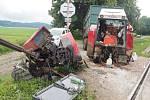 Nehoda traktoru a vlaku na Štítecku
