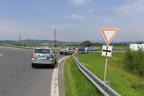Nehoda na křižovatce u Zábřehu