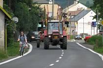 Šumperská ulice v Jeseníku je nebezpečná pro chodce i cyklisty.